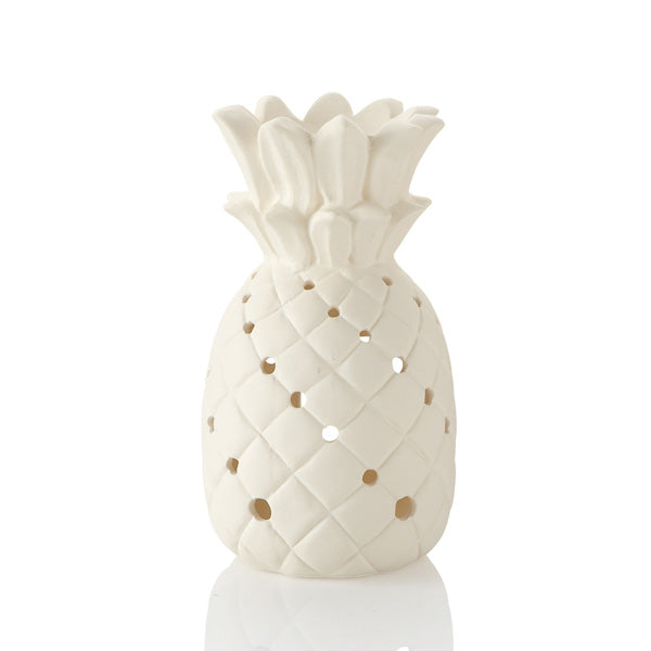 The Pineapple Lantern holds a tea light in the bottom to give off just the right amount of glow through all of its many cut-outs. Pineapples are a tropical fruit which are also s symbol of welcome and hospitality.  During the Chinese New Year, the pineapple represents wealth, luck and excellent future.