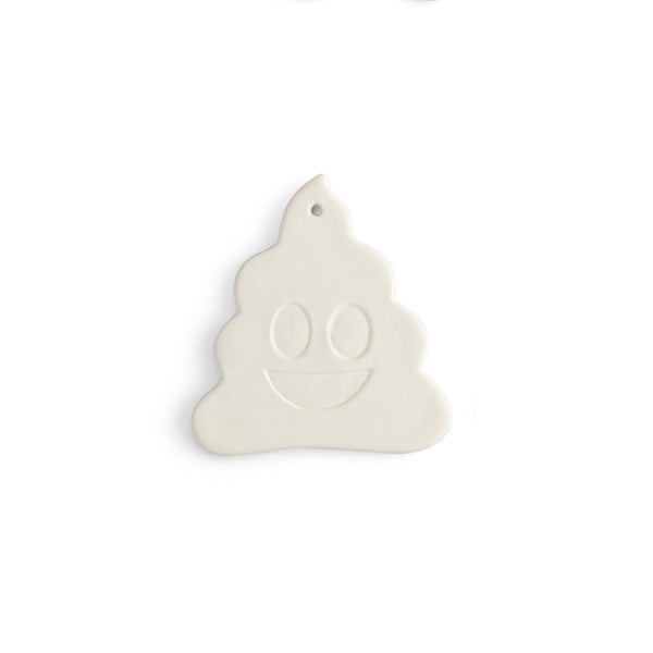 This simple-to-paint piece features large recessed eyes and smile. A funny addition to a holiday tree, as an add-on or use as a gift tag.
