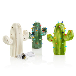 Our new Cactus Light-up combines the aura of the desert with the fun of a party. Comes with light kit & pin lights. Pottery Glaze or Fun Strokes both look amazing on this piece.  Painting Suggestions  Fun Strokes: Paint 1 coat of Green Acres (#2304) on the entire piece. Let dry. The using a damp sponge, wipe off the paint, leaving paint in the crevices. Finally, paint 2 coats of Lime Ricky (#2303). Dip in Dazzle Dip Clear Glaze and fire to cone 06.