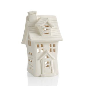 Our Haunted House Lantern is spooktacularly fun to decorate for Halloween! The lantern features a two-story haunted house design with window, door, chimney and slanted board accents.  The haunted house lantern would look so festive on a window sill, mantel, or as a table centerpiece for a Halloween party.  Use with our changing color tea lights #6435 for an eerie glow.