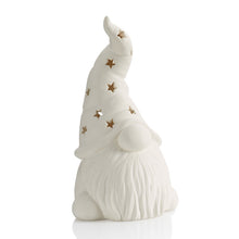 Load image into Gallery viewer, Our Tall ceramic Hatted Gnome Lantern can be painted for any season and fit in with any decor!