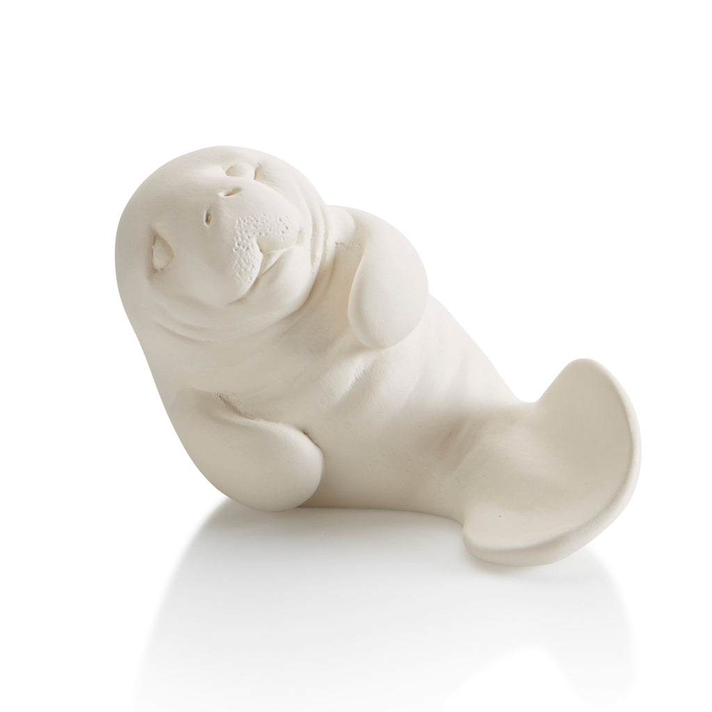 Our ceramic Manatee Party Animal is a great Paint and Learn piece.  Did you know... manatees, sometimes called