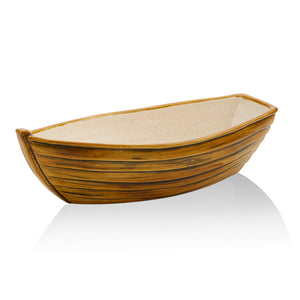 The Boat Bowl is a good size for succulents and small plants. Use it as a unique bowl to serve banana splits, hot dogs and more.