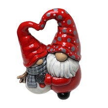 "Load image into Gallery viewer, Hugging Gnome and Snowman (7.25""H x 5""W)"