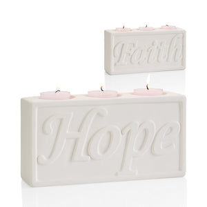 "8"" Hope/Faith Candle Holder"