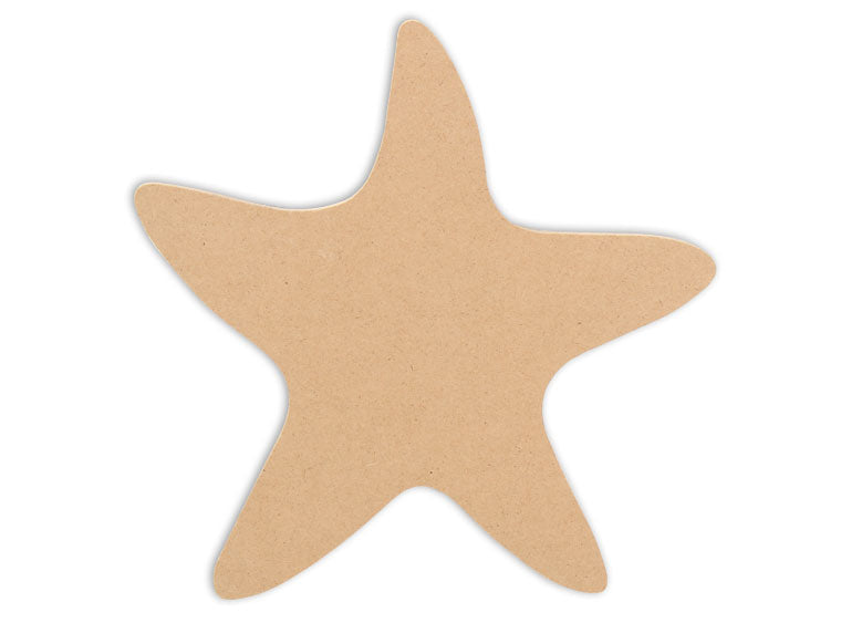 This Starfish Shape makes mosaic and mixed media crafts easy. Add tiles, grout, paint, and more to create a one-of-a-kind creative masterpiece. This shape is made from high quality MDF board.  Project Tile Surface Area 24