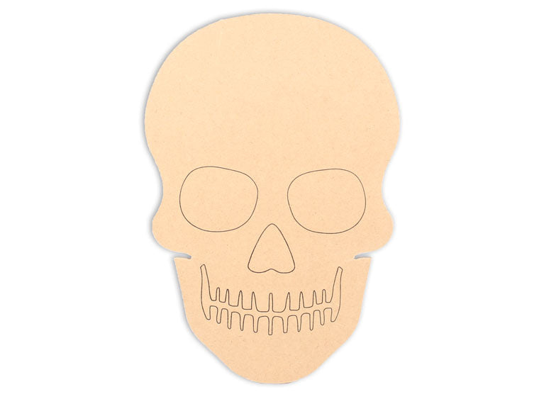 This Skull Shape makes mosaic and mixed media crafts easy. Add tiles, grout, paint, and more to create a one-of-a-kind creative masterpiece. This shape is made from high quality MDF board.  Project Tile Surface Area 73
