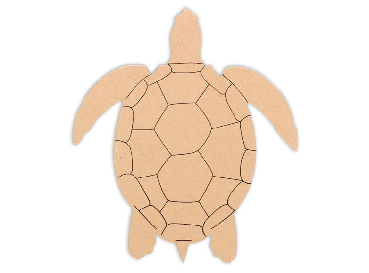 This Sea Turtle Shape makes mosaic and mixed media crafts easy. Add tiles, grout, paint, and more to create a one-of-a-kind creative masterpiece. This shape is made from high quality MDF board.  Project Tile Surface Area 35