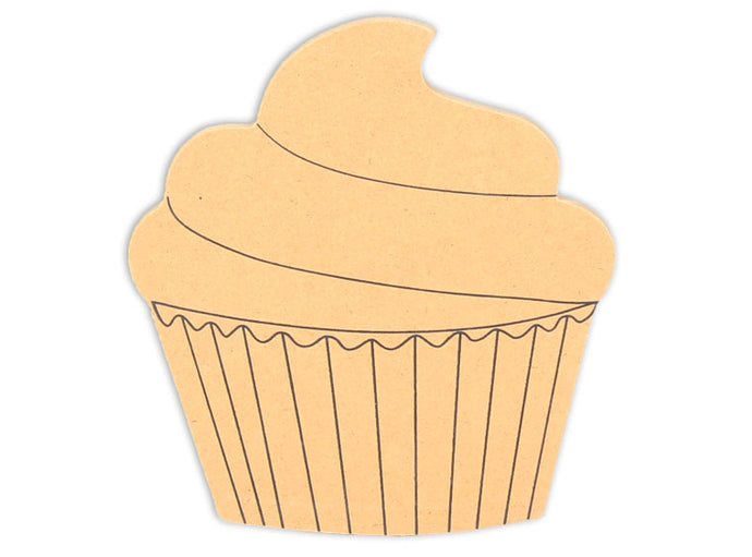 This Cupcake Shape makes mosaic and mixed media crafts easy. Add tiles, grout, paint, and more to create a one-of-a-kind creative masterpiece. This shape is made from high quality MDF board.  Project Tile Surface Area 23