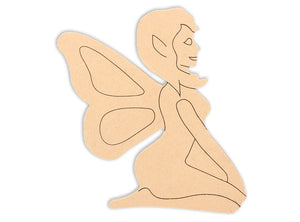 This Fairy Shape makes mosaic and mixed media crafts easy. Add tiles, grout, paint, and more to create a one-of-a-kind creative masterpiece. This shape is made from high quality MDF board.  Project Tile Surface Area 32""