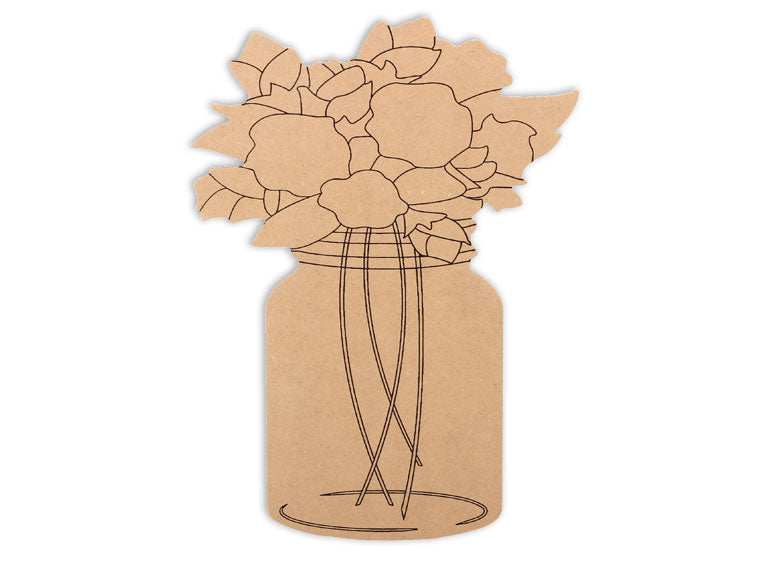 This MDF piece is perfect for those southern bells out there!  This mason jar makes mosaic and mixed media crafts easy. Add tiles, grout, paint, and more to create a one-of-a-kind creative masterpiece. This shape is made from high quality MDF board.  Project Tile Surface Area 53