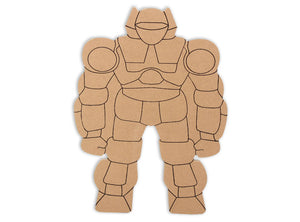 Fight the forces of evil with this Robot mosoic plaque! Our exclusive MDF shapes make mosaic and mixed media crafts easy. Add tiles, grout, paint, and more to create a one-of-a-kind creative masterpiece. These shapes are made from high quality MDF board.  Project Tile Surface Area 64""