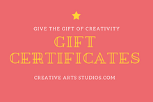 Load image into Gallery viewer, Gift Cards For Pottery Art Kits or for Projects at the Studio