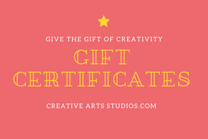 Gift Cards For Pottery Art Kits or for Projects at the Studio