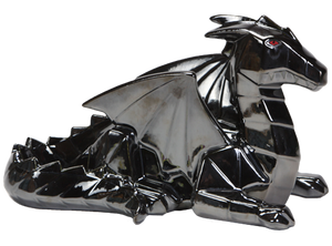 Faceted and geometric pottery is on the trend! This Faceted Ceramic Dragon can be painted with a variety of colors, or with a black glaze for an awesome home accent.