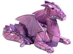 Faceted and geometric pottery is on the trend! This Faceted Ceramic Dragon can be painted with a variety of colors, or with a purple glaze for an awesome home accent.