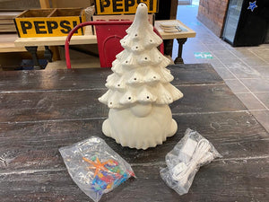 "Gnome Christmas Tree (with light kit) 13.5"" Tall DIY"