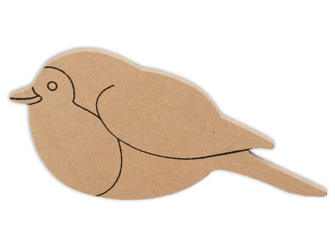 This Bird Shape makes mosaic and mixed media crafts easy. Add tiles, grout, paint, and more to create a one-of-a-kind creative masterpiece. This shape is made from high quality MDF board.  Project Tile Surface Area 14