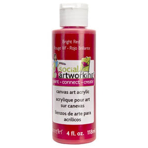 Bright Red Acrylic Paint (2oz Container) - Not Food Safe
