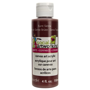 Burnt Sienna Acrylic Paint (2oz Container) Not Food Safe