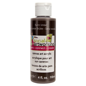 Burnt Umber Acrylic Paint (2oz Container) - Not Food Safe