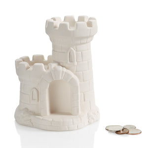 "6"" Castle Bank (check out the topper figurines too!)"
