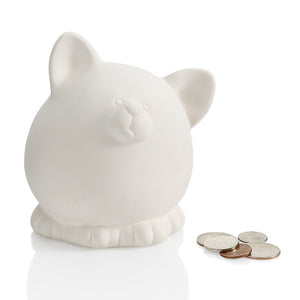 "4.5"" Pudgy Cat Bank"