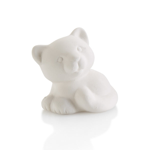 The Cat Tiny Topper pottery painting piece is the cutest addition to any box, plate, platter, or more!