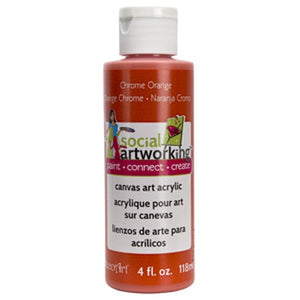 Chrome Orange Acrylic Paint (2oz Container) - Not Food Safe