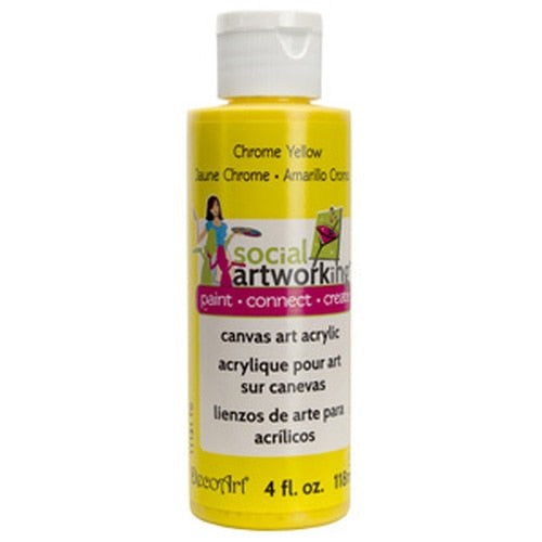 Chrome Yellow Acrylic Paint (2oz Container) - Not Food Safe