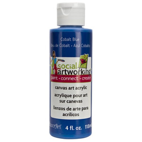 Cobalt Blue Acrylic Paint (2oz Container) - Not Food Safe