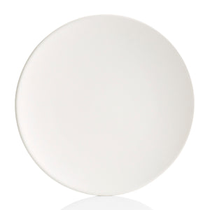 "The large 13"" ceramic Tuscany Coupe Charger Plate is a sleek plate with a curved edge and larger plate size. Tuscany plates were inspired by artisans in the Tuscan countryside. The smooth surface allows the perfect amount of space for painting any design and gives off a modern look. Combine with other Tuscany Coupe pottery to create a set."