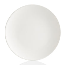 Load image into Gallery viewer, This Coupe Dinner plate fits more conveniently in cupboards. It has a lightweight, simple, sleek design with a smooth surface.  It's a ton of painting this pottery piece!