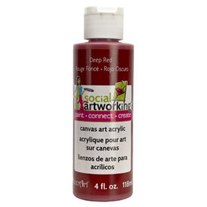 Deep Red Acrylic Paint (2oz Container) - Not Food Safe