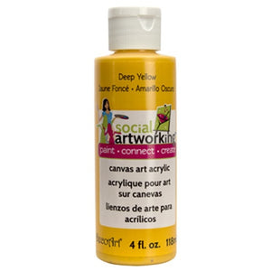 Deep Yellow Acrylic Paint (2oz Container) - Not Food Safe