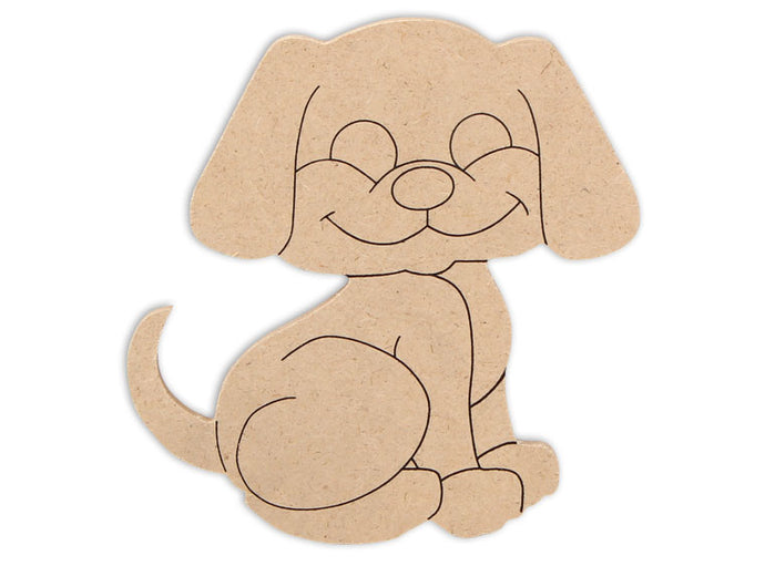 This Dog Shape makes mosaic and mixed media crafts easy. Add tiles, grout, paint, and more to create a one-of-a-kind creative masterpiece. This shape is made from high quality MDF board.  Project Tile Surface Area 21