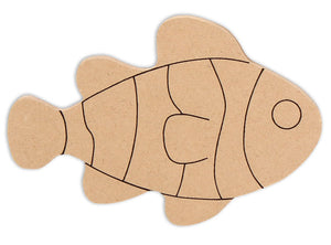 "6"" Fish Plaque (Includes Glue - a Grout Kit and Assorted Venetian Tiles"