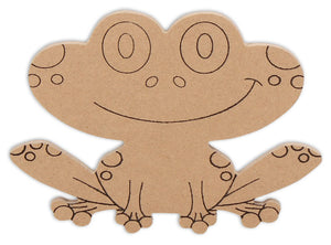 "6"" Frog Plaque (Includes Glue - a Grout Kit and Assorted Venetian Tiles"