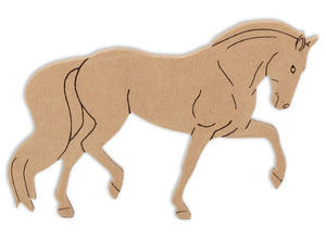 "8.75"" Horse Plaque (Includes Glue - a Grout Kit and Assorted Venetian Tiles"