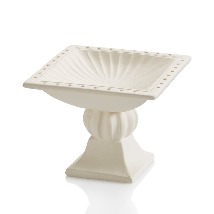 The Ceramic Jewelry Holder is a perfectly sized stand-alone pedestal dish to hold jewelry that you wear often. Perfect for your earrings and rings, with plenty of surface space for your bracelets and bangles. Jewelry is often sentimental and meaningful - what better place to put it than on a hand painted pedestal?