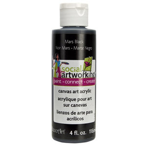 Mars Black Acrylic Paint (2oz Container) - Not Food Safe