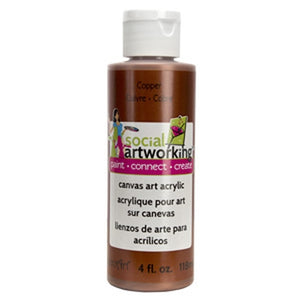 Metallic Copper Acrylic Paint (2oz Container) - Not Food Safe
