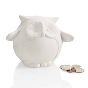 "4.5"" Pudgy Owl Bank"