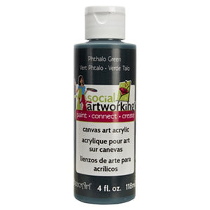 Phthalo Green Acrylic Paint (2oz Container) - Not Food Safe