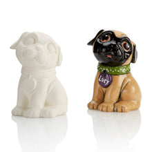 Load image into Gallery viewer, Who doesn't love a Ceramic Pug!? The adorable Pug is a true Party Animal....and fun to paint!