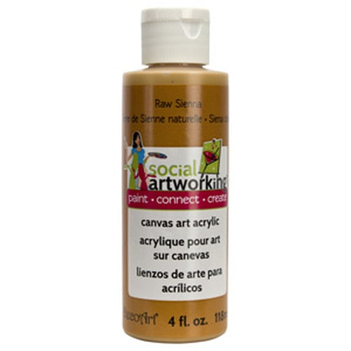 Raw Sienna Acrylic Paint (2oz Container) - Not Food Safe