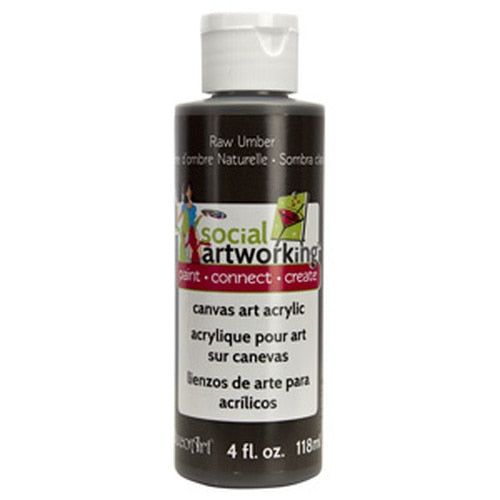 Raw Umber Acrylic Paint (2oz Container) - Not Food Safe