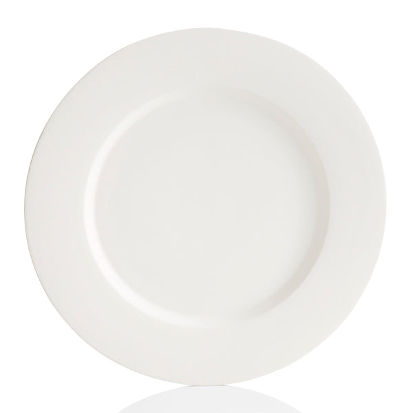 This ceramic Tuscany Rim Charger Plate is a simple plate with a little more edge and larger plate size. Tuscany plates were inspired by artisans in the Tuscan countryside. The thick rim adds that extra style to any ordinary plate. Paint with a warm color palette to create an atmosphere of Italy. Combine with other Tuscany Rim dinnerware to create a set.