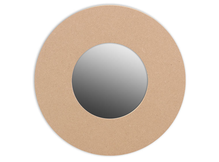 This Round Mirror Plaque makes mosaic and mixed media crafts easy. Add tiles, grout, paint, and more to create a one-of-a-kind creative masterpiece. This shape is made from high quality MDF board.  Project Tile Surface Area 38