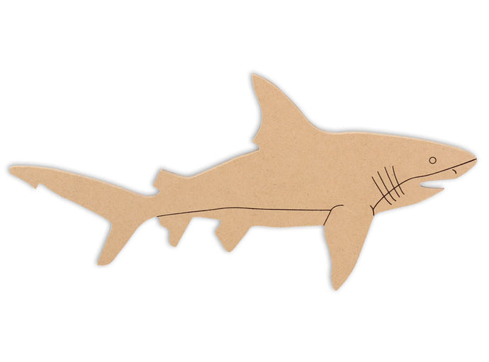 This Shark Shape makes mosaic and mixed media crafts easy. Add tiles, grout, paint, and more to create a one-of-a-kind creative masterpiece. This mosaic plaque is made from high quality MDF board.  Project Tile Surface Area 20